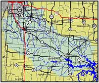 Map of the South Grand River Watershed
